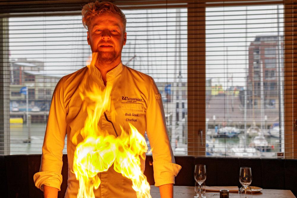 Vuur - Bob StaalRestaurant Waterproef
