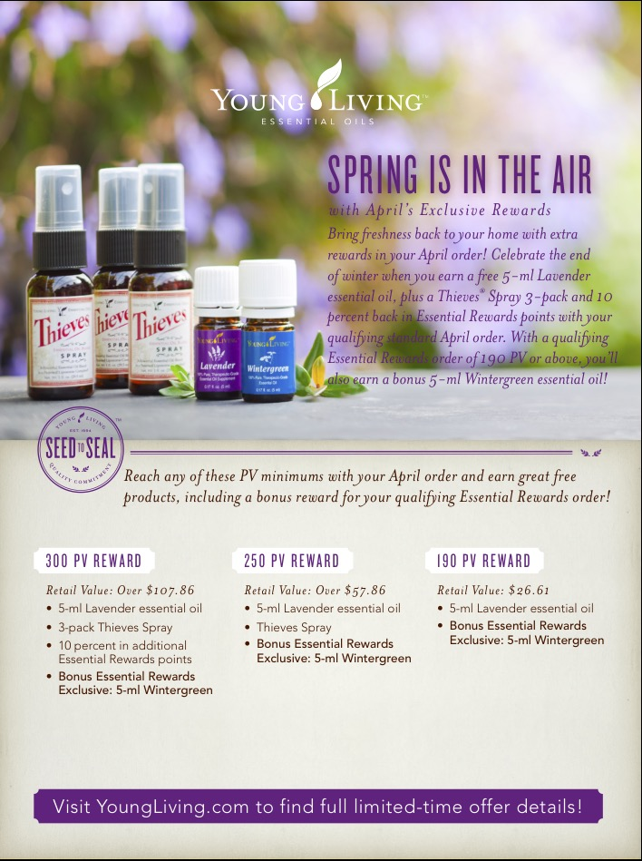 Thieves, Lavender & more in the April promotion!