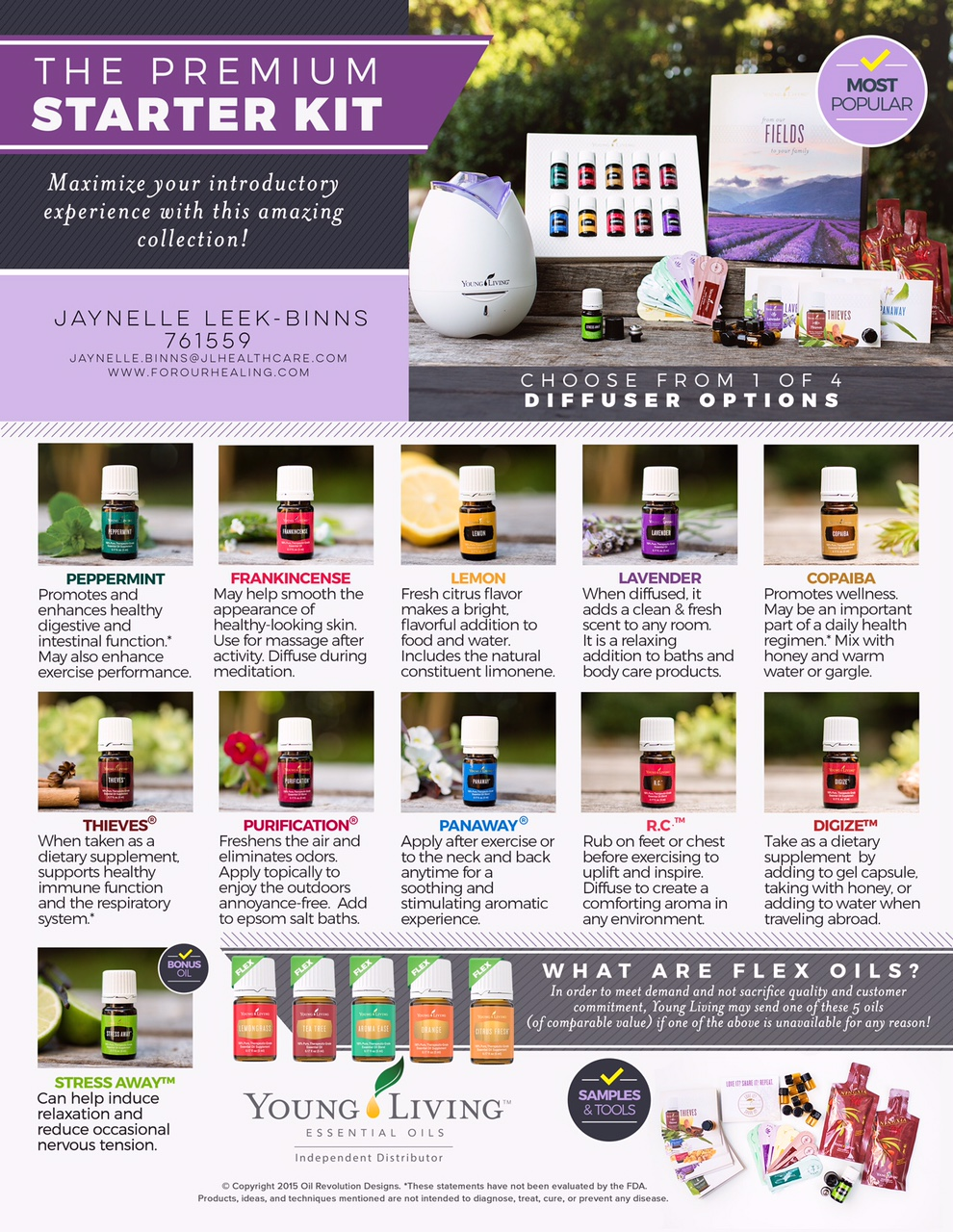 10 oils + 1 bonus oil = The BEST way to start your Young Living journey.