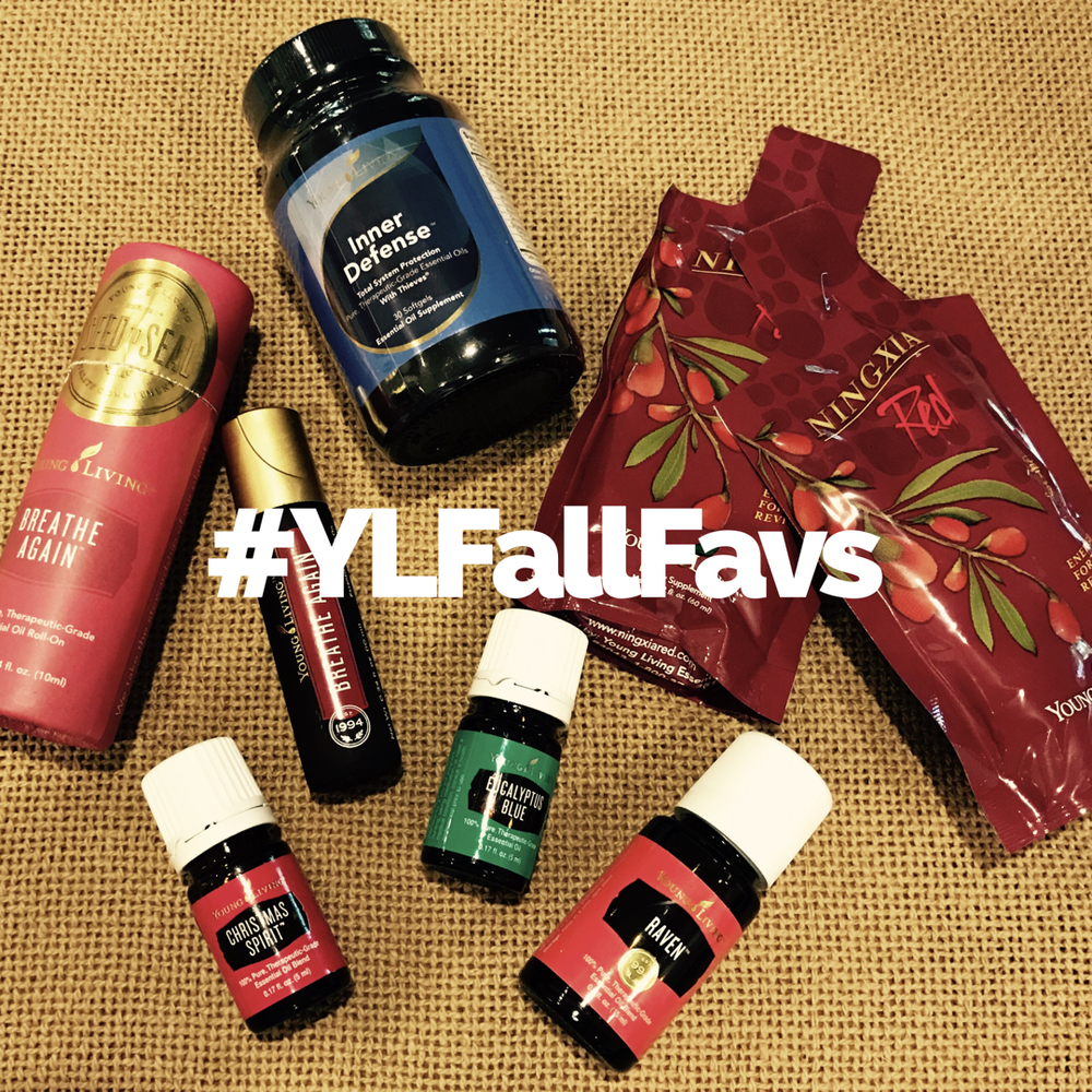 What are your #YLFallFavs? Here are a few of ours! Inner Defense, Eucalyptus, Raven, Breathe Again, RC & Ningxia.