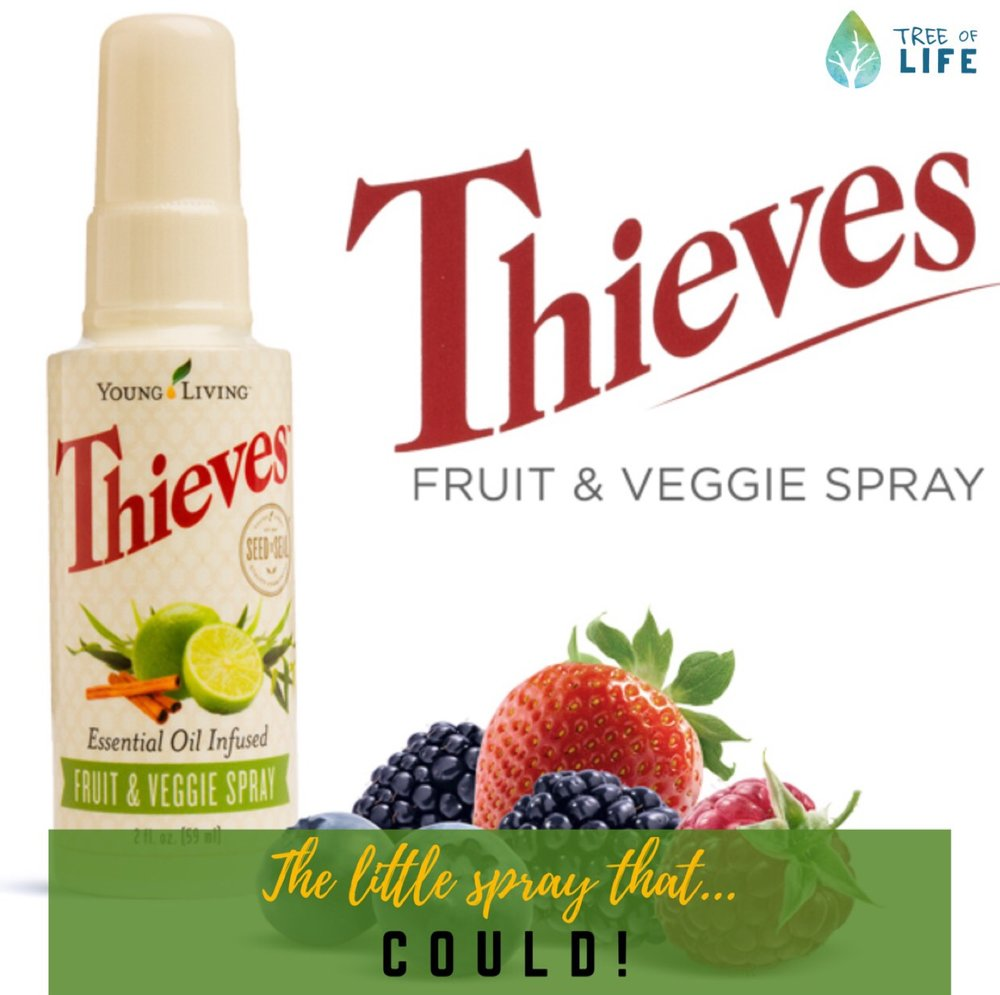 Small but mighty, Thieves Fruit & Veggie Spray is one of our favorite Switch & Ditch solutions! Easy, quick and effective (woo hoo!).