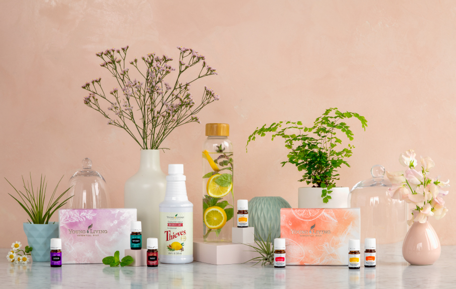 We love the Spring Basics Set for any Essential Oil newbie in your life! With Thieves, Peppermint and Lavender, it's impossible to go wrong! Also pictured: Thieves Household Cleaner, Citrus Fresh & Water Bottle set & Citrus Vitality Set.