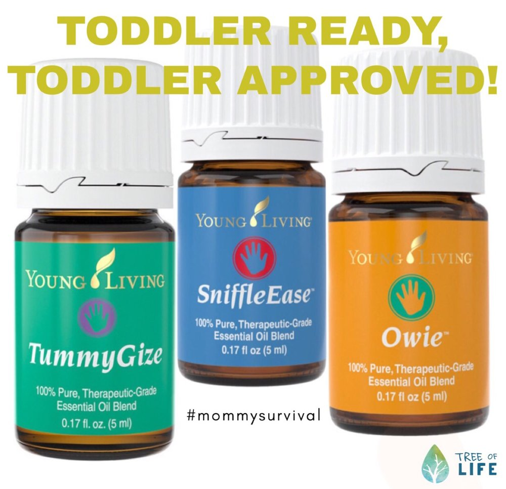 KidScents faves TummyGize, SniffleEase and Owie are my mommy survival secret weapons. Toddler Moms: Don't leave home without them! (Katelyn Terry,  mommy and Tree of Life team member).