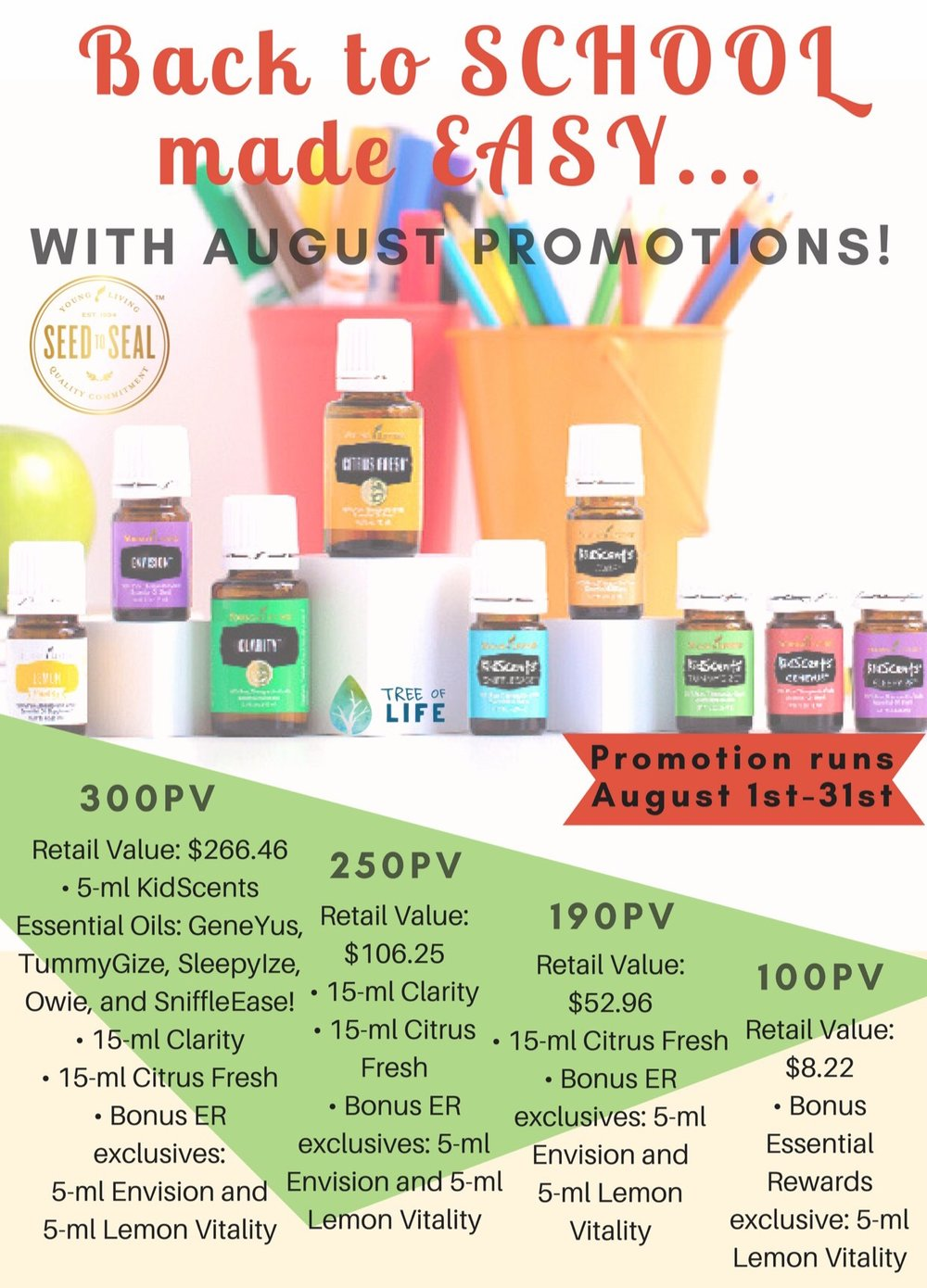 Oily mamas: we love how this promo makes checking off our favorite back-to-school oils easy!
