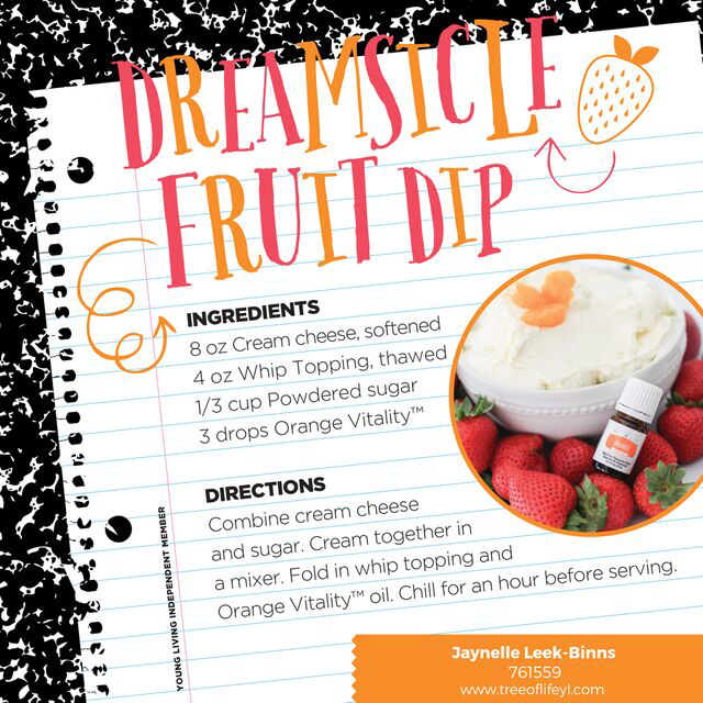 Ease into homework time with a yummy snack: Dreamsicle Dip + Fruit.