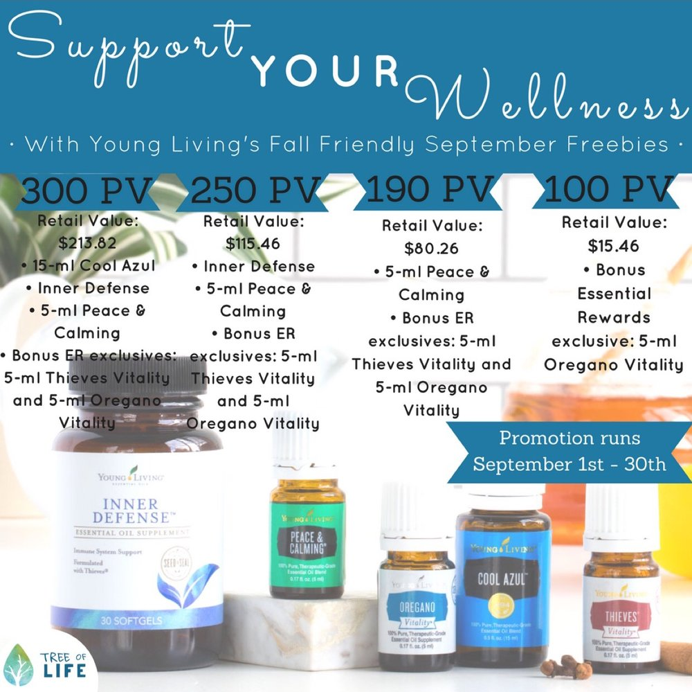 September's promo is all about wellness. It's packed full of oils and supplements that support fitness, your immune system and sleep!