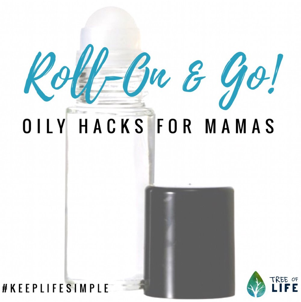 These roll-on oily hacks are easy to make and even easier to apply! Perfect for the busy oily mama.