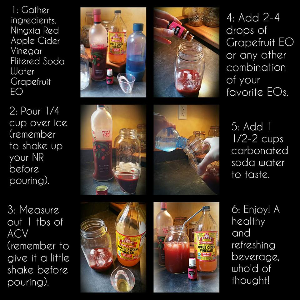 Thanks to Lindsey Barger for sharing her delicious discovery: ACV + NR = Amazing