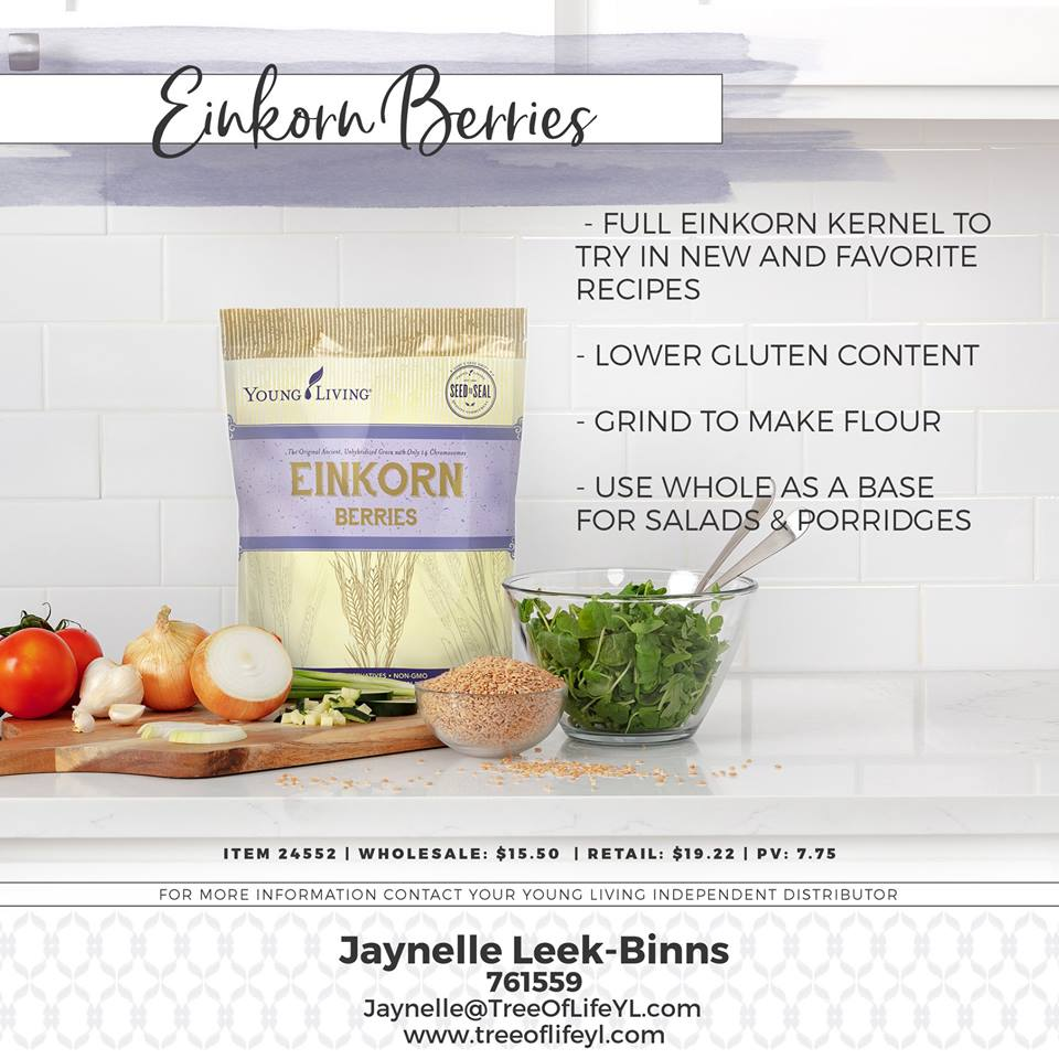 Pro Tip: You can grind the Einkorn Berries to make flour!