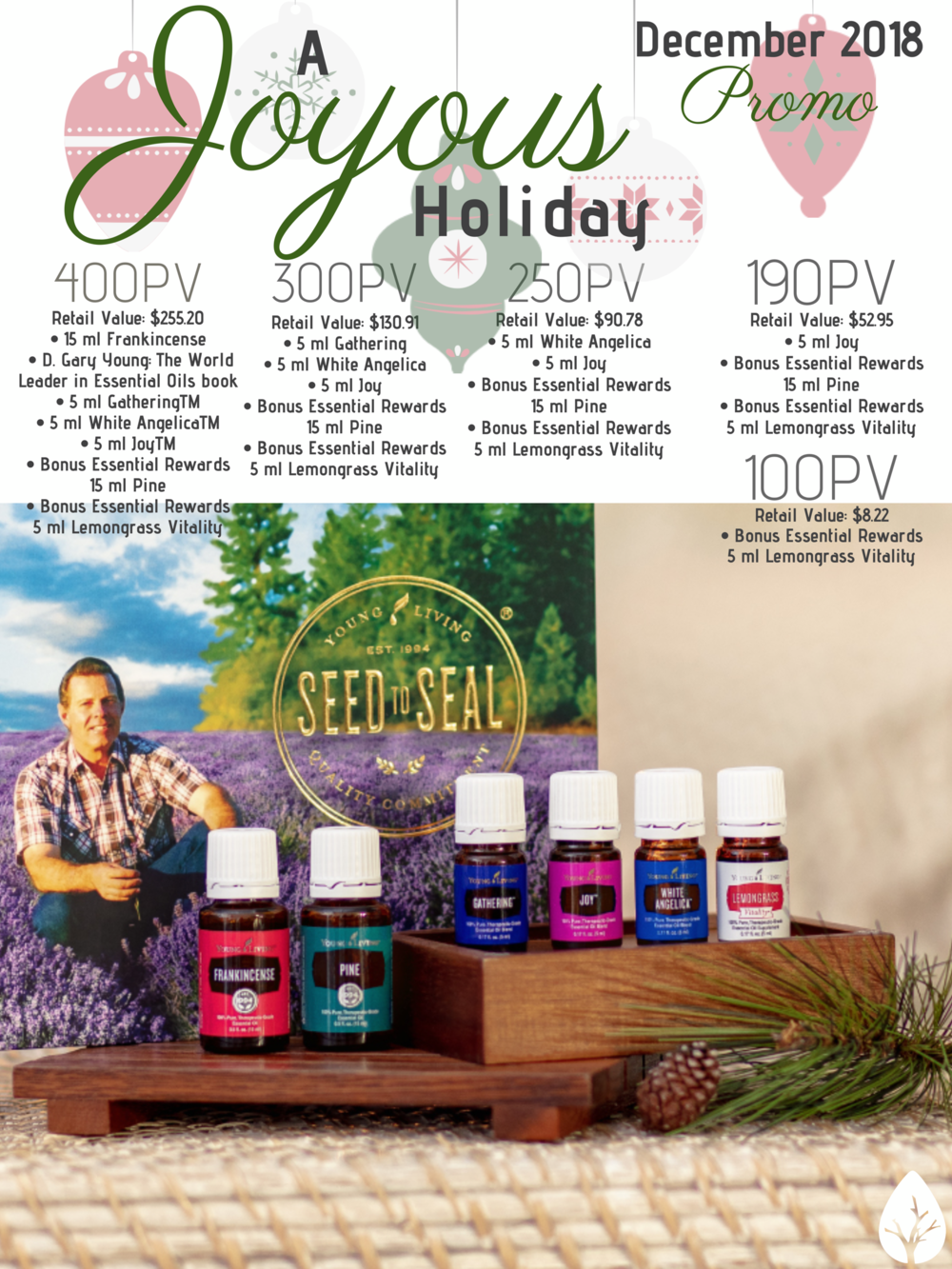 Mood-boosting oils star in this holiday-perfect promo.
