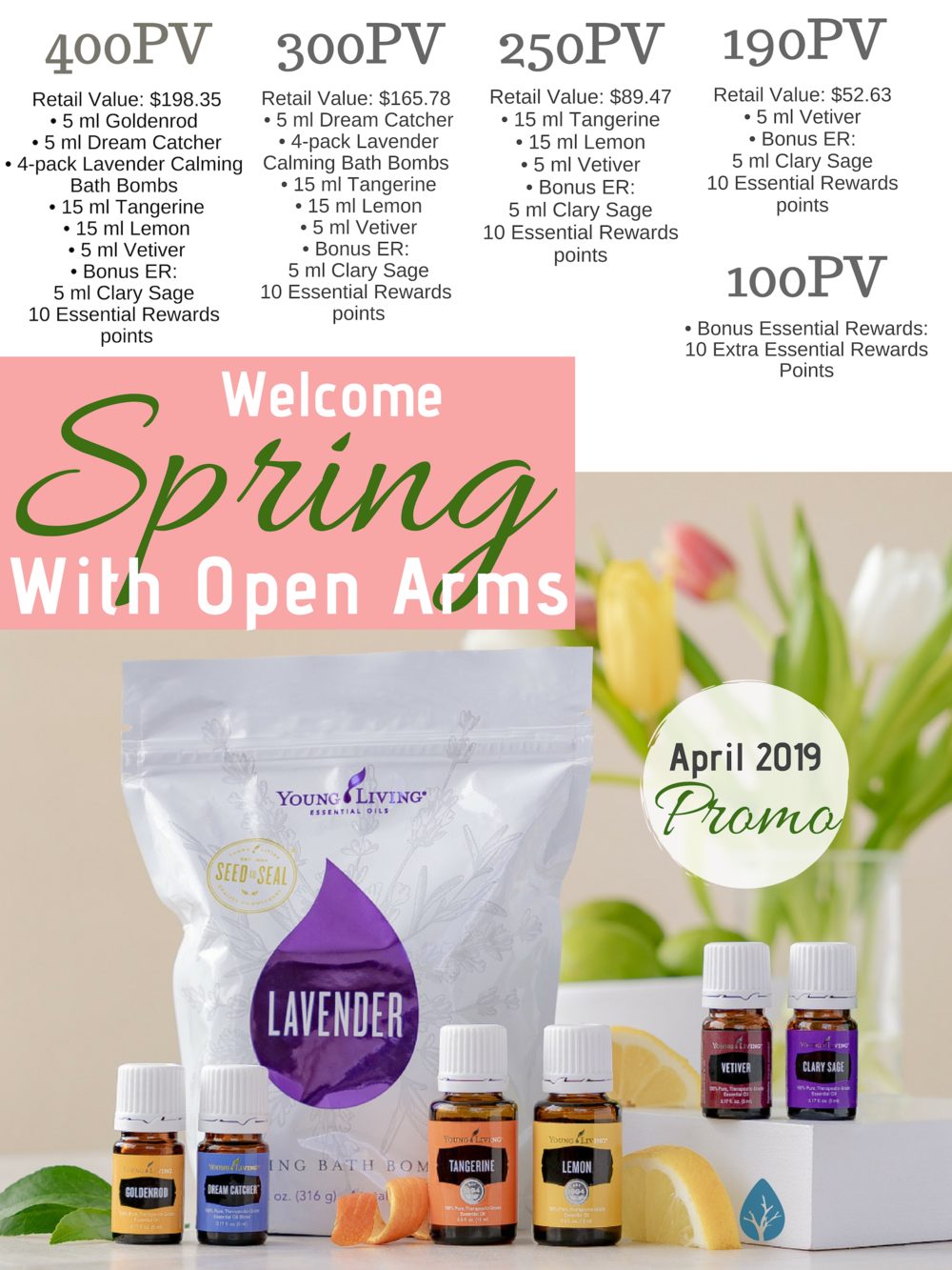 Spring has sprung! Get sunny, spring-perfect oils to match the warming days:)