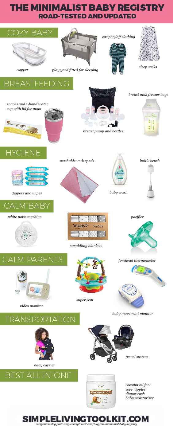The Minimalist Baby Registry Checklist Simple Living Toolkit