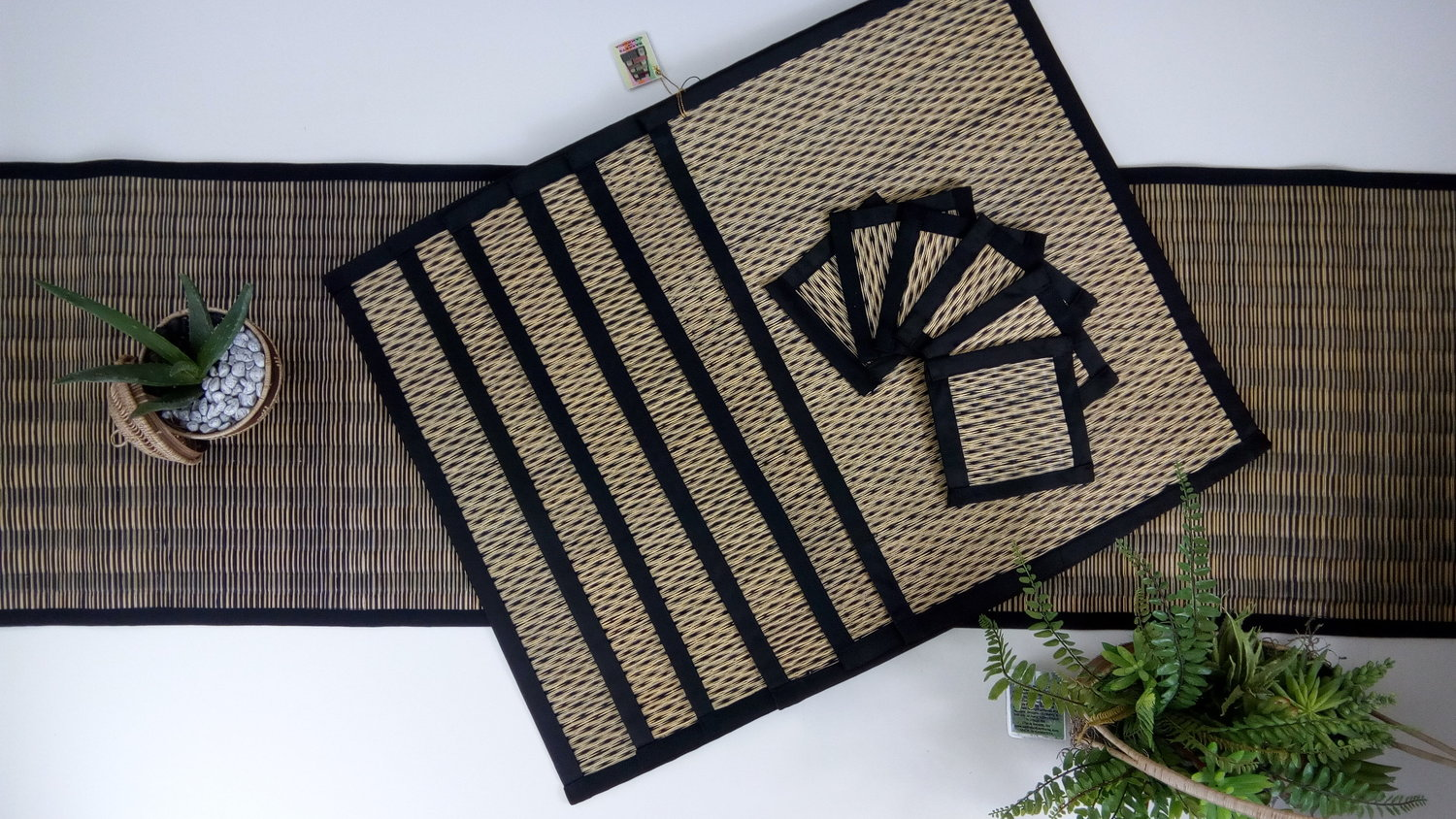 Placemats With Coasters Set Of 6 Or Table Runner Saraye