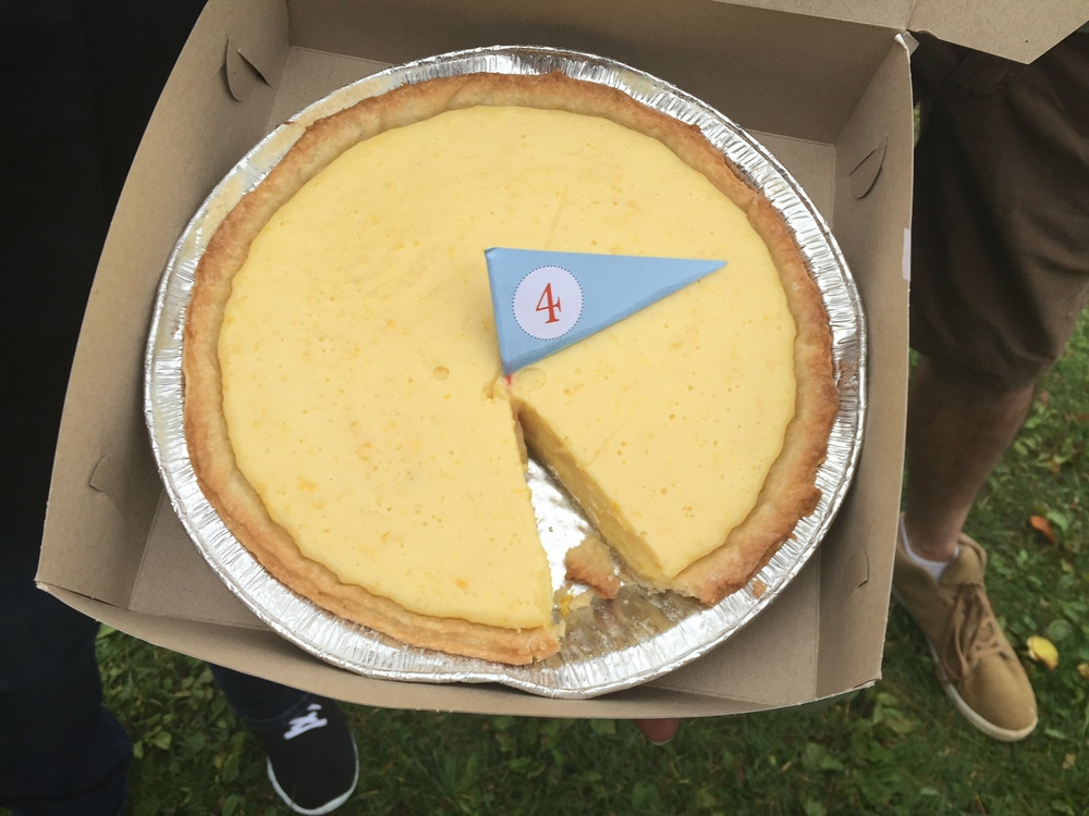 The much sought-after champion pie!