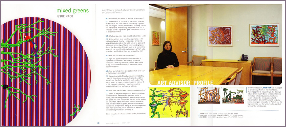 Mixed Greens Issue No 6 Interview with Ellen Callamari - Art Advisor Profile