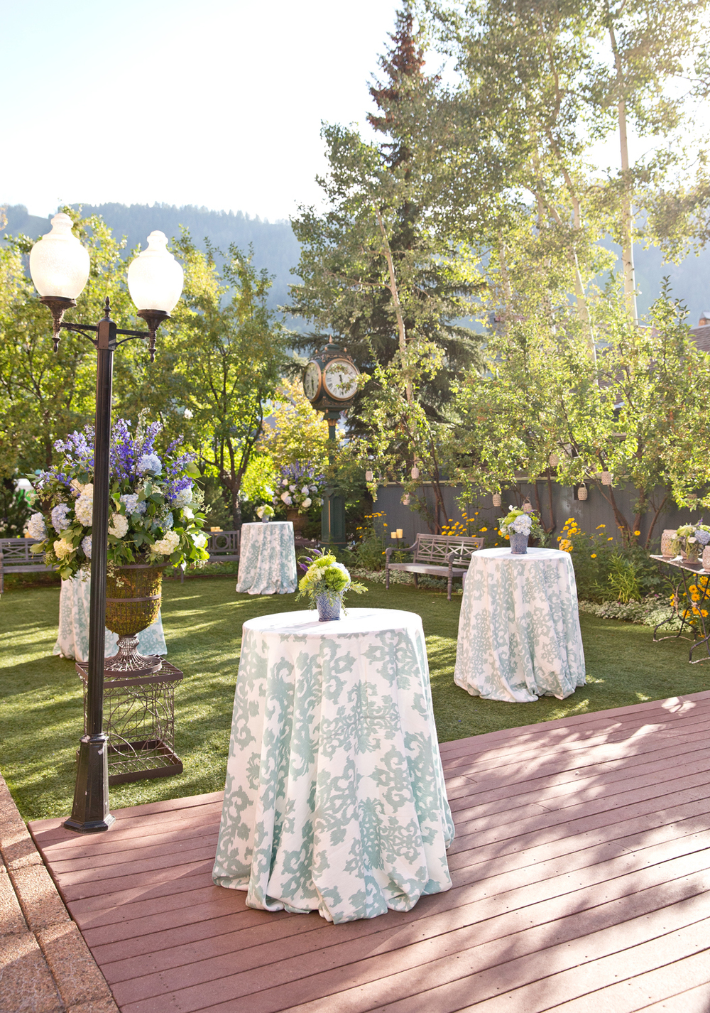 Outdoor Patio Welcome Reception