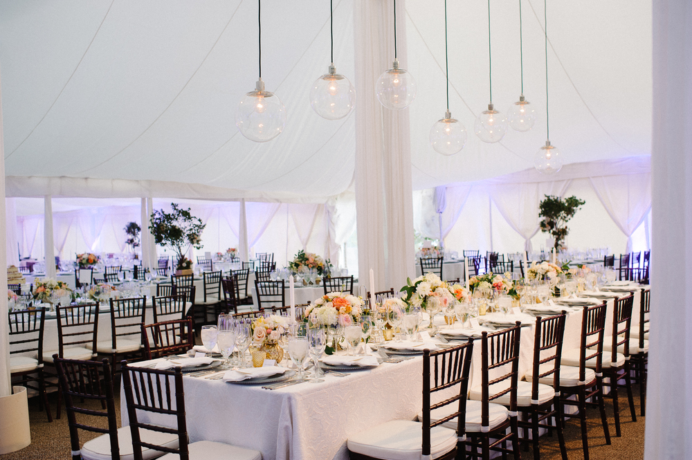 Tented Wedding Dinner Reception
