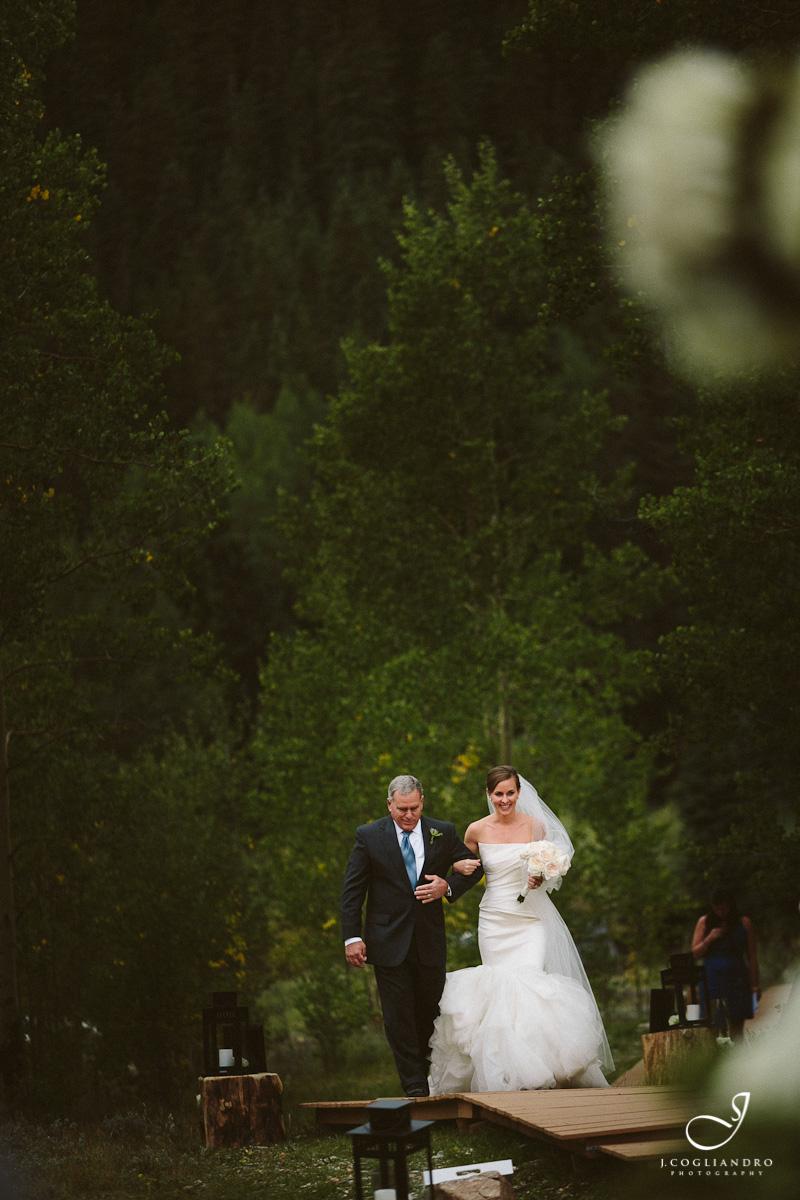 Bride & Father Walking Down Boardwalk