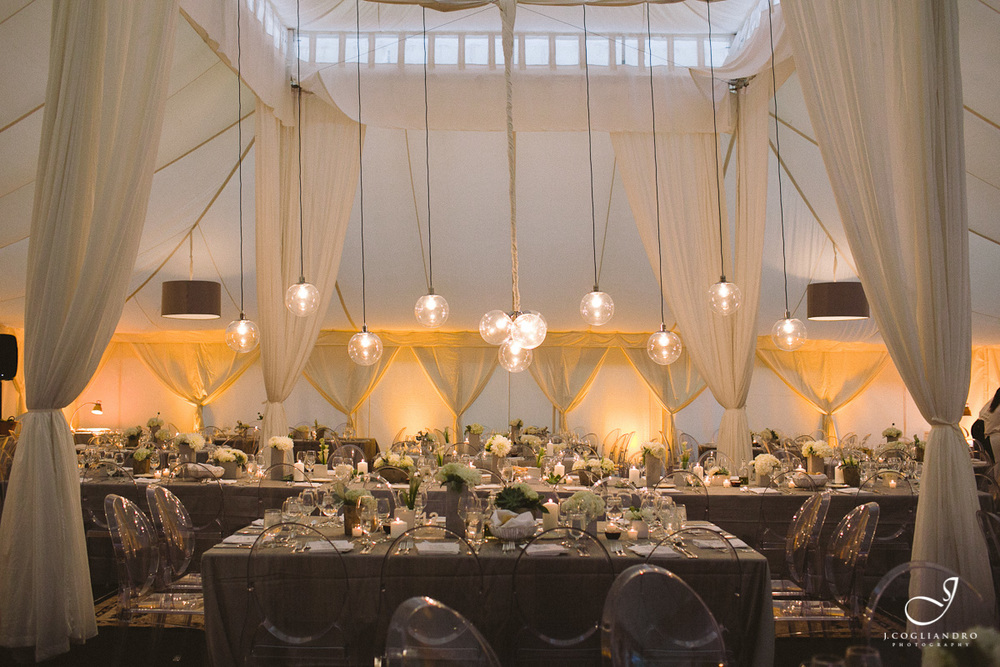 Modern Silver & White Wedding Reception