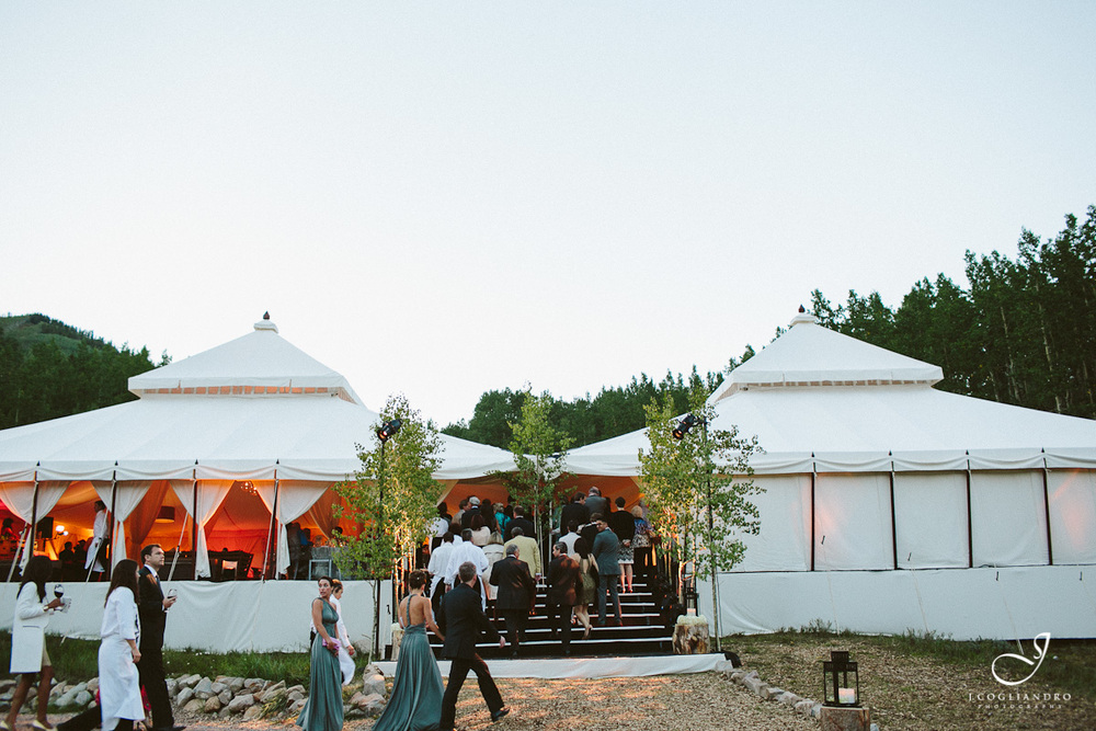 Two Adjoined Wedding Tents