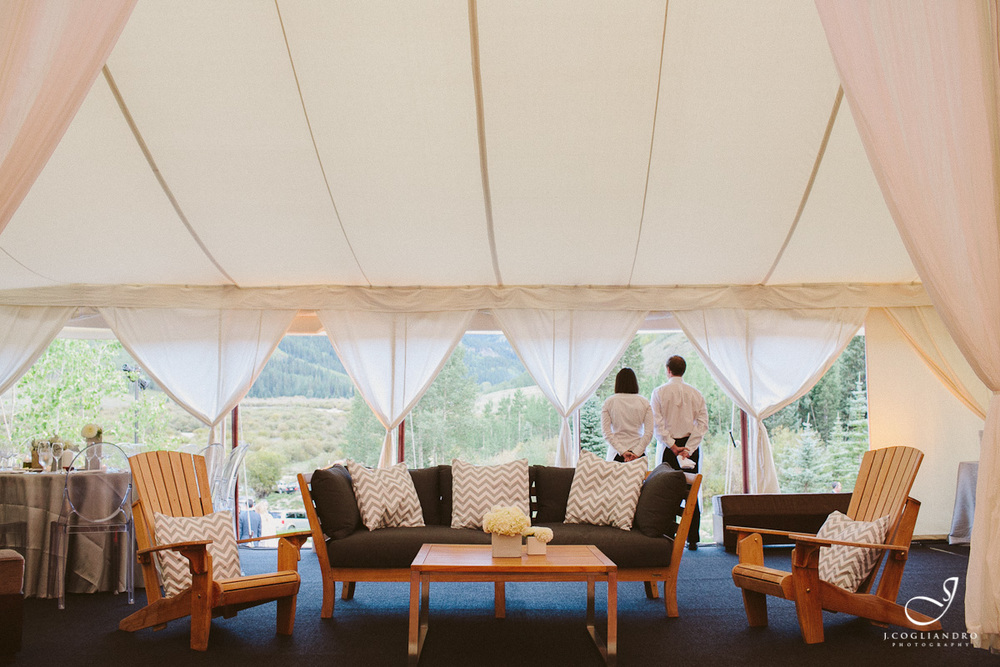 Lounge Seating Area Inside Reception Tent