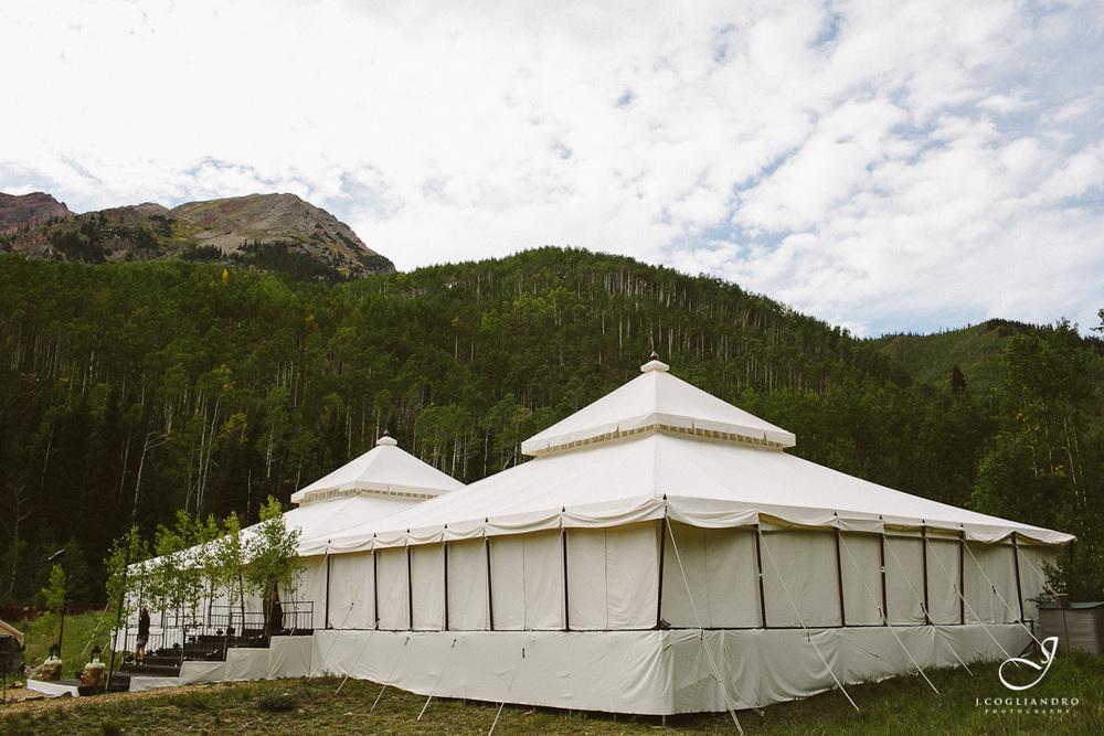 Two White Wedding Tents