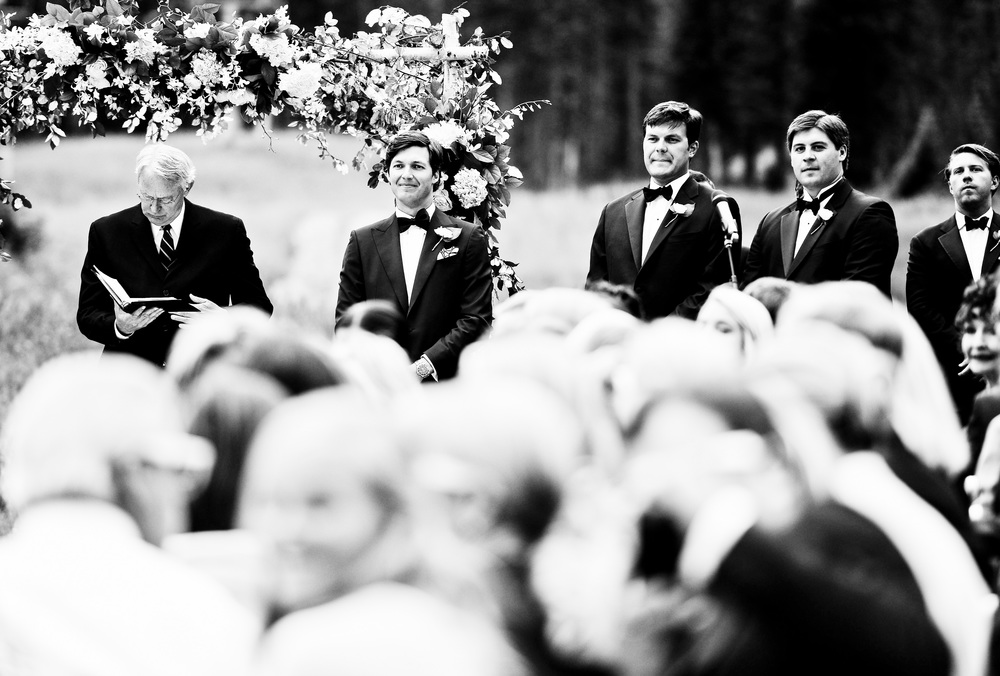 Groom & Groomsmen at Alter