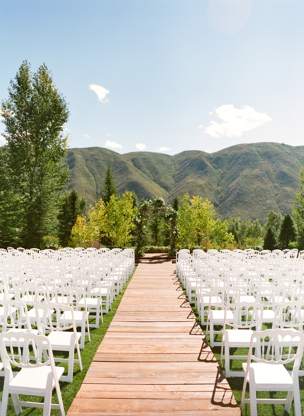 Outdoor  mountain wedding ceremony