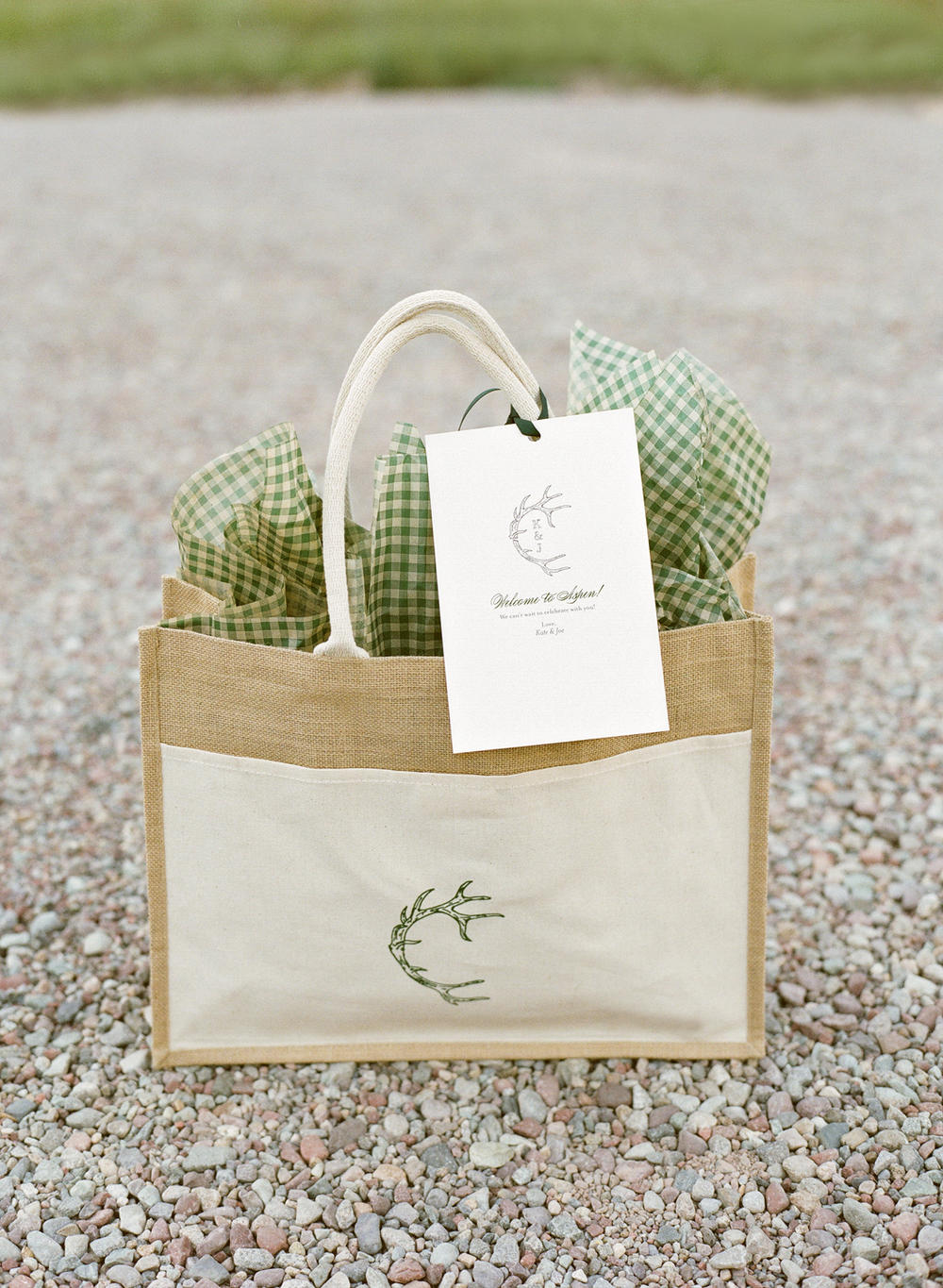 Canvas Welcome Tote with Wedding Logo
