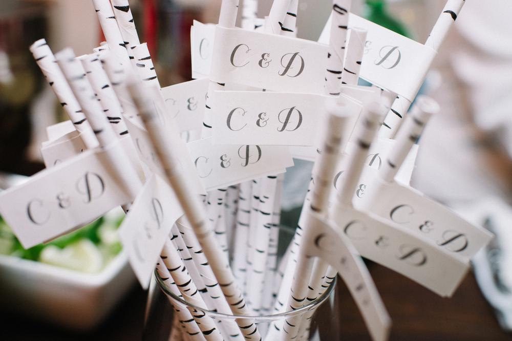 Monogrammed straws