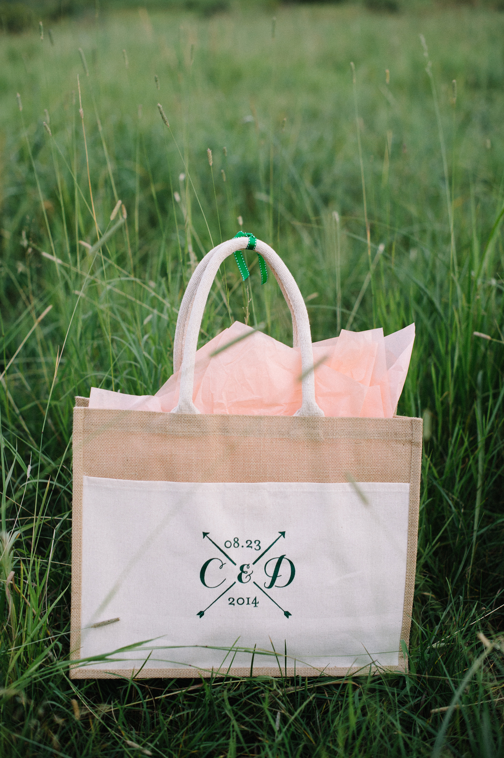 Monogrammed Wedding Gift Bag