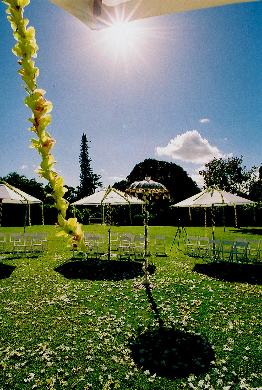 Outdoor Hawaii Wedding Reception
