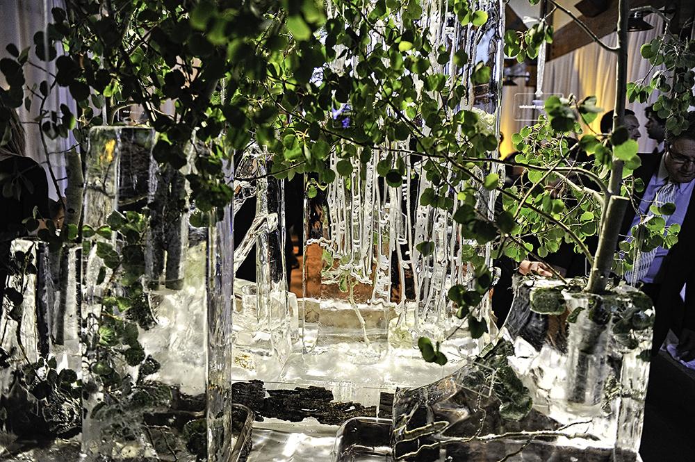 Aspen Tree Ice Sculpture
