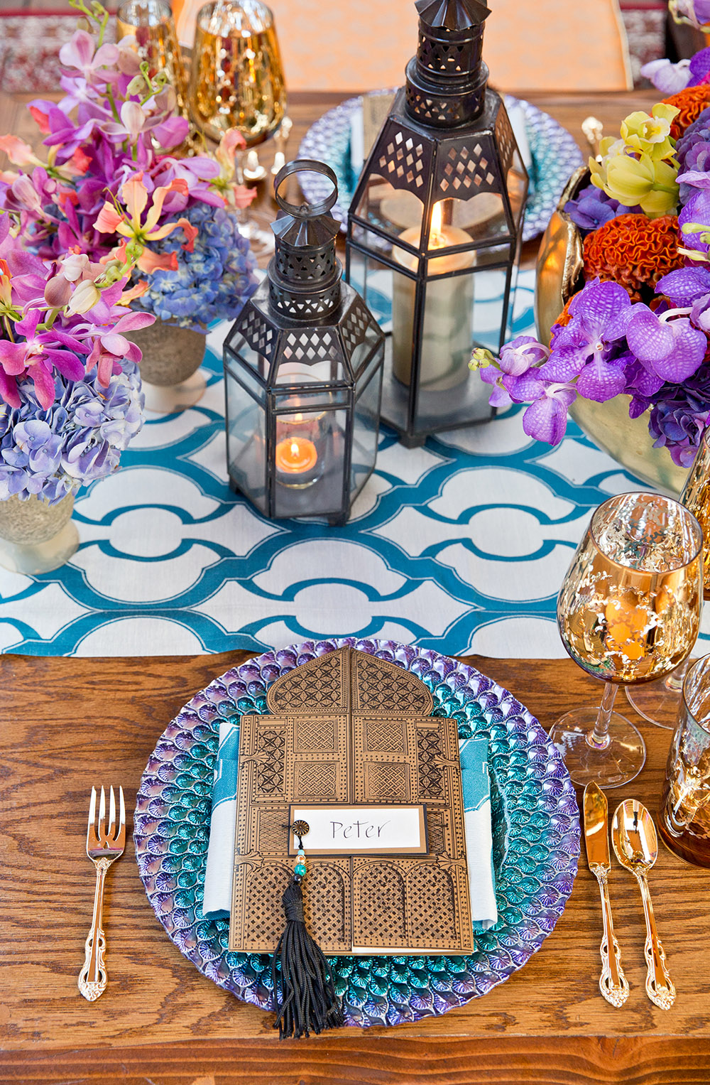 Moroccan theme place setting