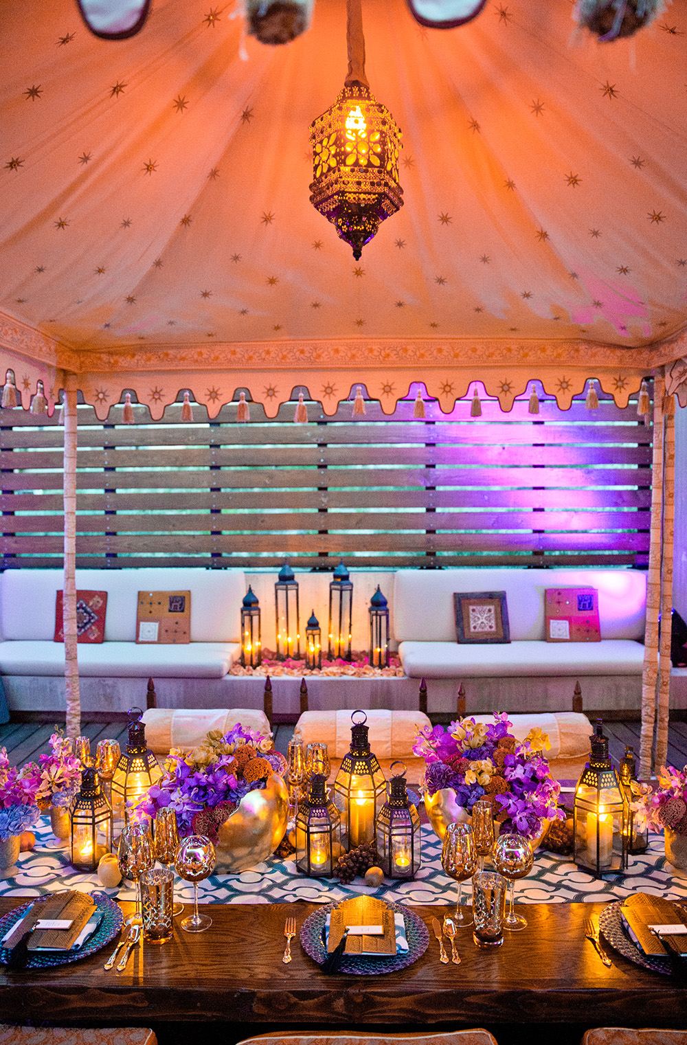Moroccan theme table setting
