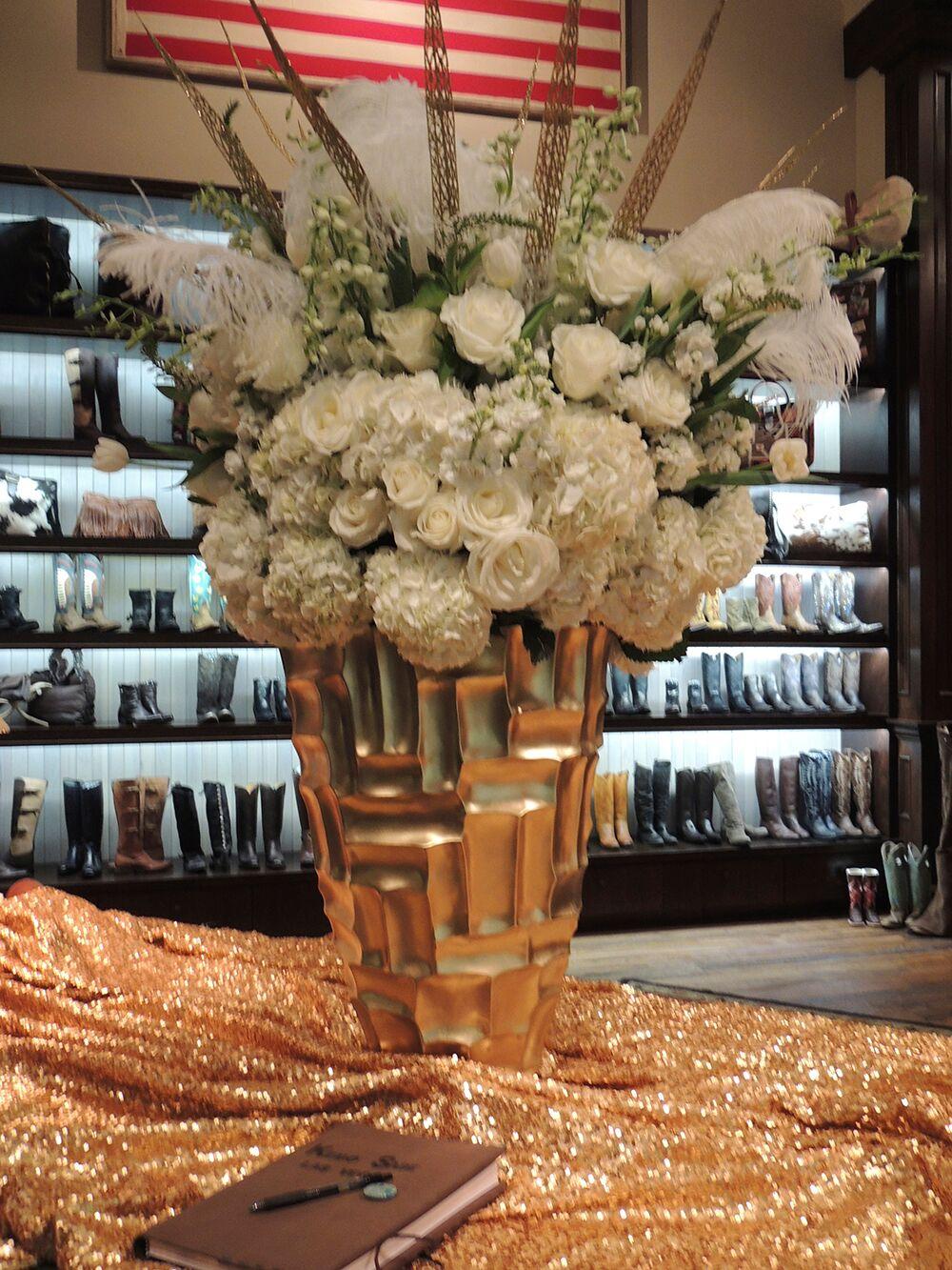 White Hydrangea Flower Arrangement
