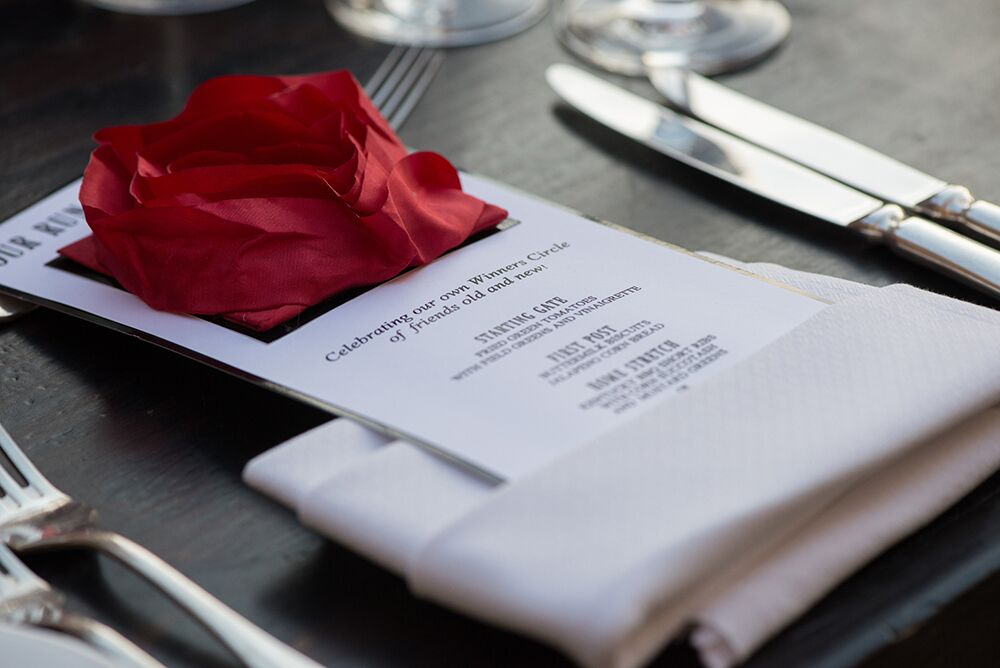 Rose menu card