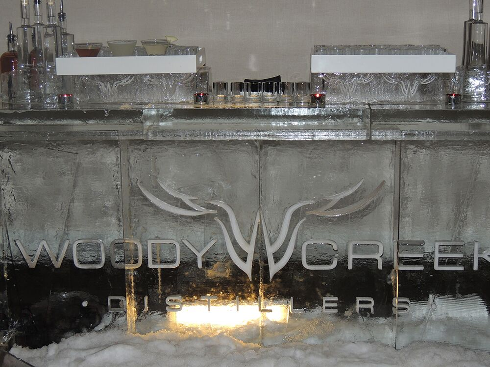 Woody Creek Distillers Ice Bar