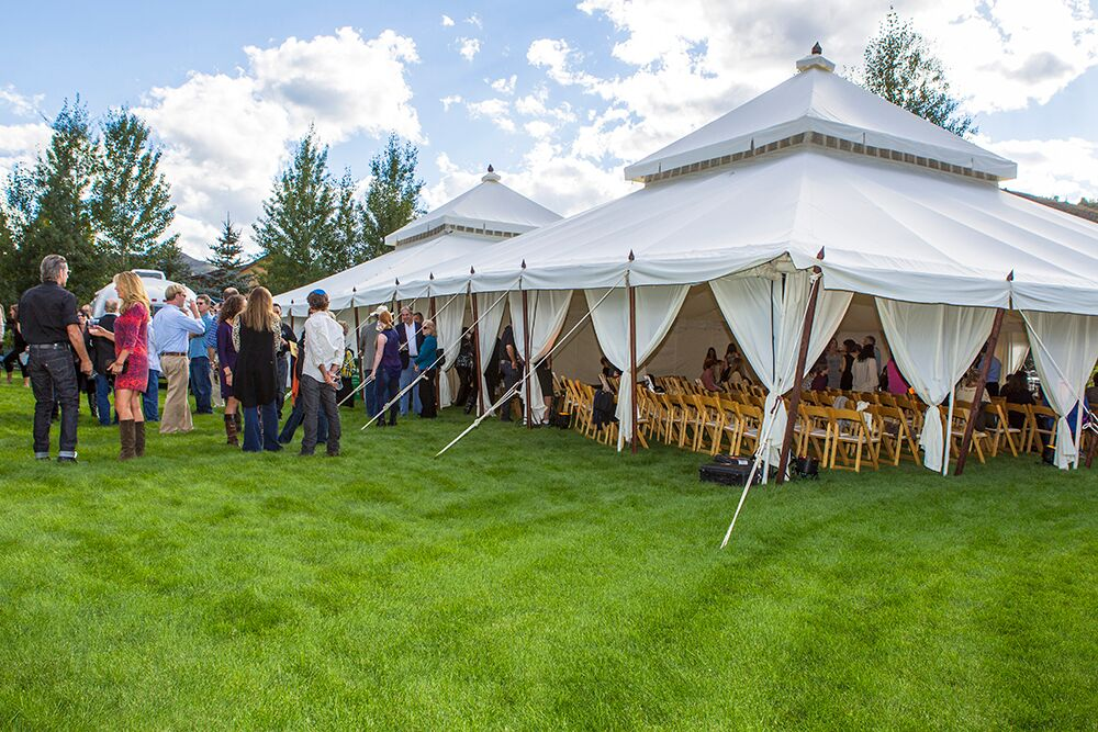 aspen bar mitzvah outside tent