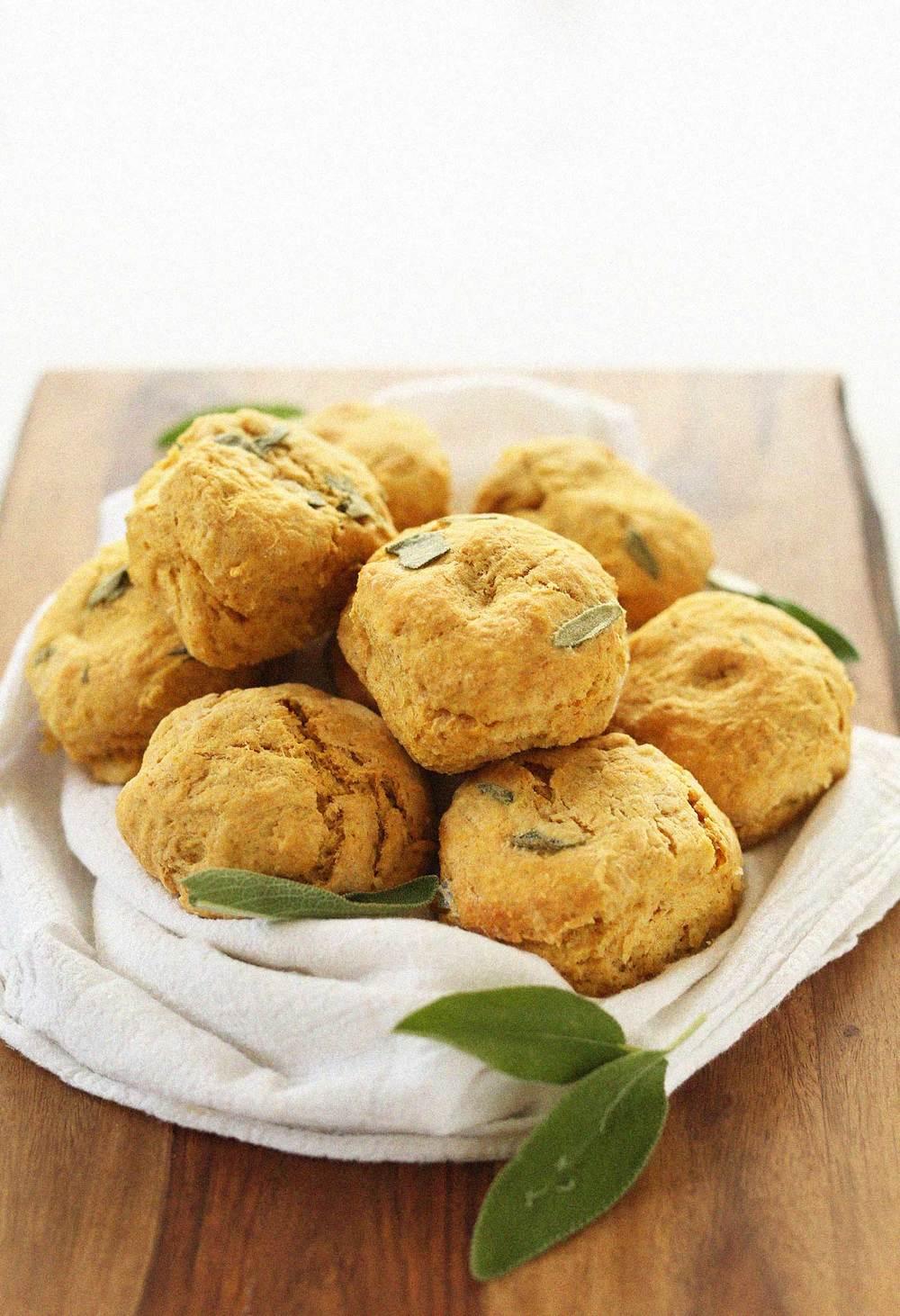 Minimalist Baker's Pumpkin Sage Biscuits