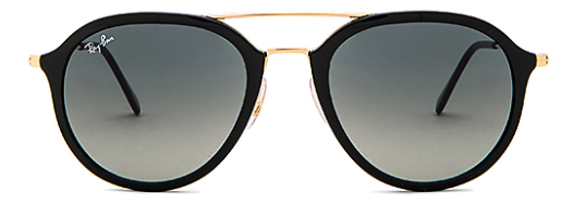 6. Ray-Ban double bridge aviator sunnies- The iconic Ray-Bans have stood the test of time, and aviators are always in style but these black and gold frames hit all the right latest trend marks.  Not too round, not too square, not too big and not too small, these will look good on all face shapes.  I know glasses are hard to buy for someone but these make it easy to win because they are super versatile. $175