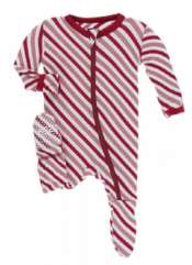 kickee pants organic bamboo cotton footed zipper pajama