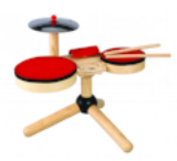 organic sustainable kids wooden drum set