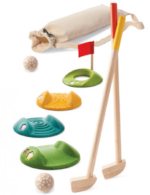 kids wooden mini golf set organic and sustainable play toy