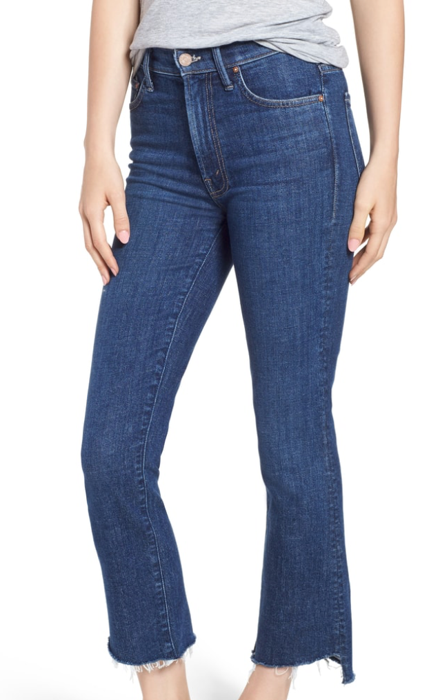 Mother Denim crop flare frayed Nordstrom Anniversary.png