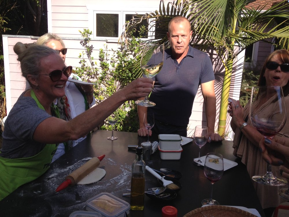 The Cult Pickup Party in Venice Beach, toasting Terry!