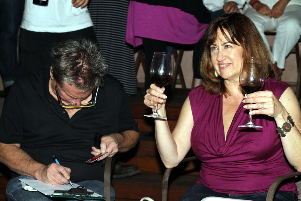 Happy Cult members! More wine please!