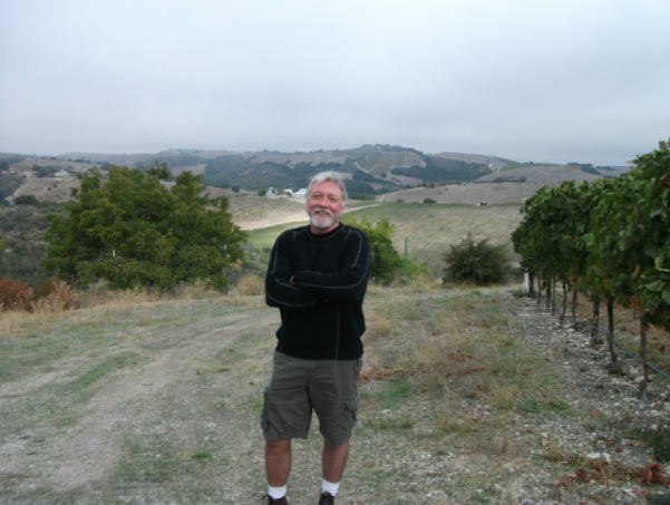 Terry in the vineyard!