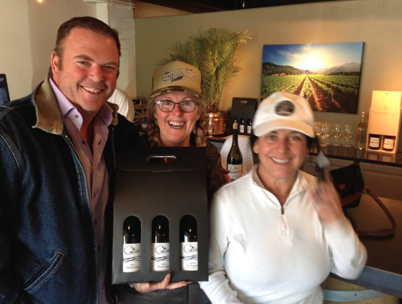 Happy Cult Members in tasting room at Avila Beach