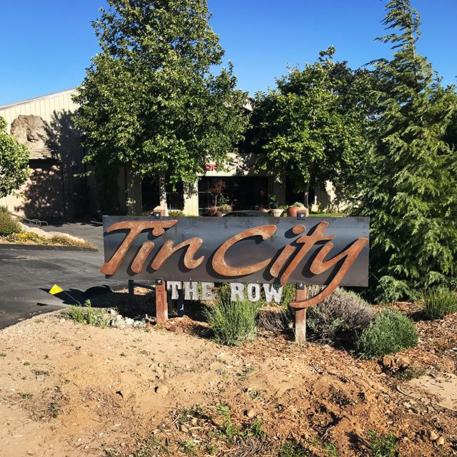 Ever been to TinCity The Row? Head over this way and come check out our killer view. Oh yeah and we have wine 🍷 ! • • • • • • #cultonwineco #poppinbottles #willowcreek #pasorobles #tincity #tincitypasorobles #travelpaso #winegram #boutiquewine #vino #winetasting #pasowines #localwines  #gsm #rhone